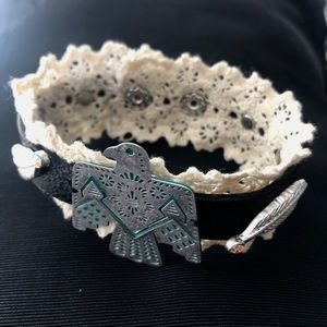 "Eagle bracelet- ""Leather""/Lace"